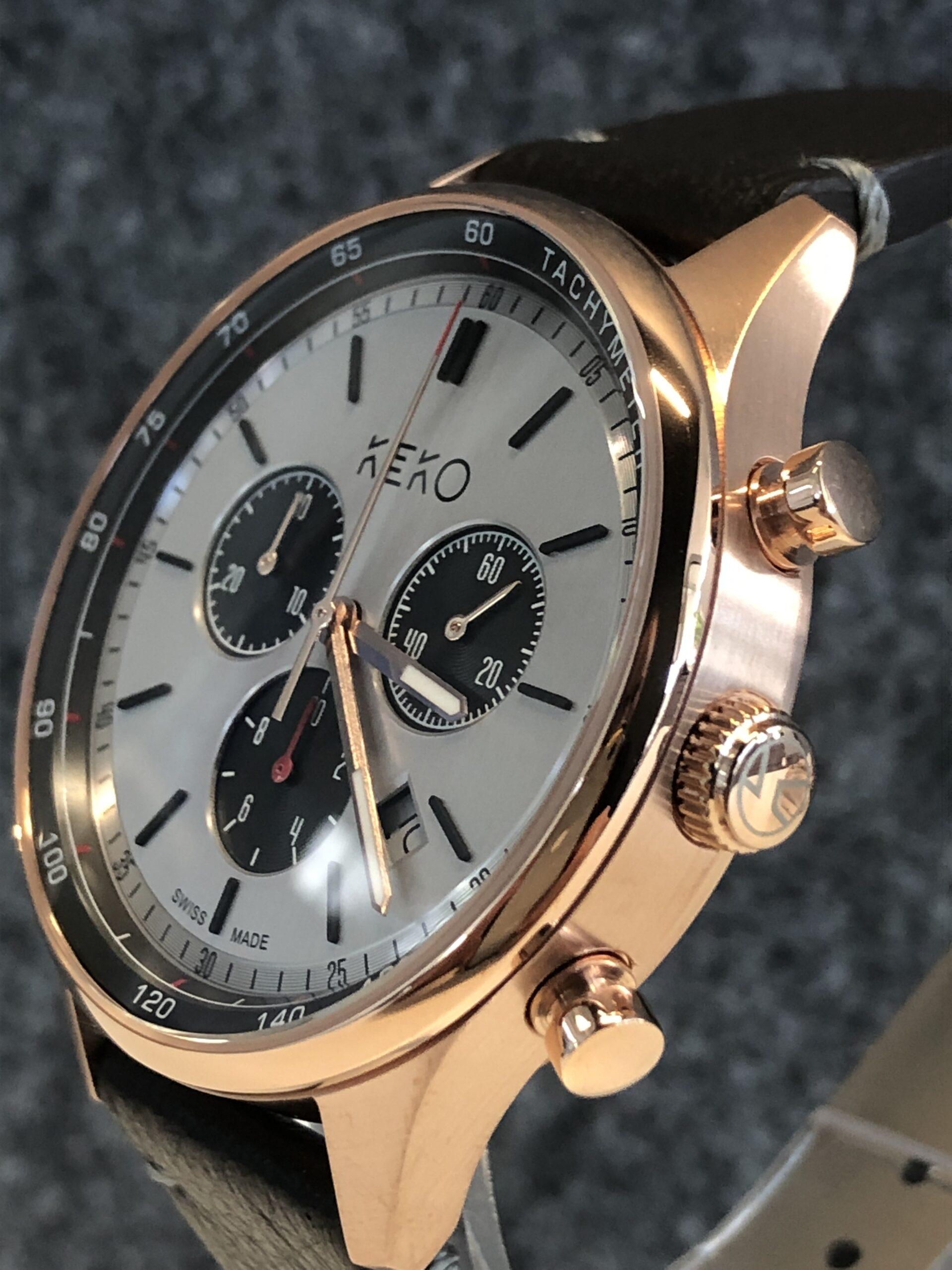 keko-chronograph-the-reliable-rosegold-seitenansicht-mit-krone