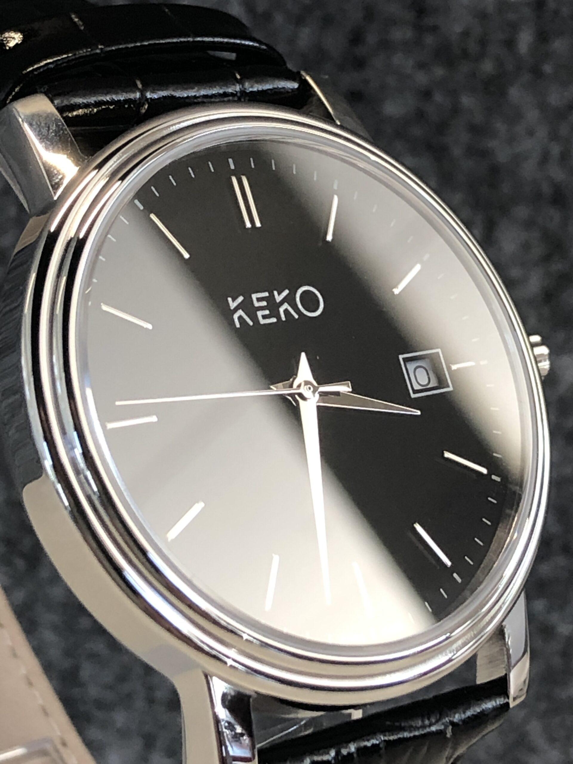 keko-uhr-classic-black-seitenansicht
